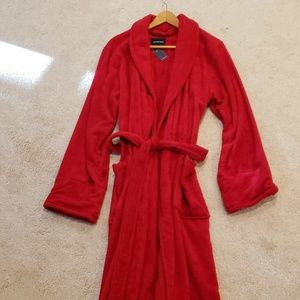 NWT! Lands End Red Terry Robe